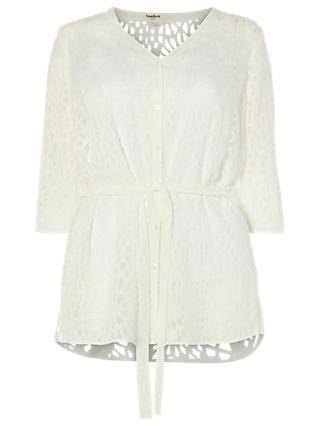 Studio 8 Holly Burnout Blouse, White