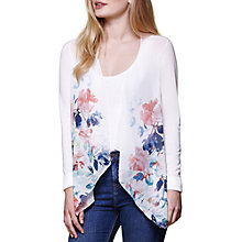 Buy Yumi Waterfall Floral Cardigan, Ivory Online at johnlewis.com