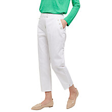 Buy Jaeger Enamel Button Chinos, White Online at johnlewis.com