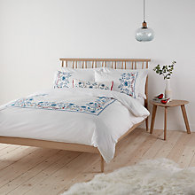 Buy John Lewis Folk Bird Embroidered Cotton Duvet Cover and Pillowcase Set Online at johnlewis.com
