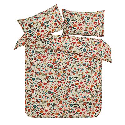 John Lewis Folk Floral Print Cotton Duvet Cover and Pillowcase Set
