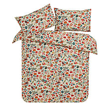 Buy John Lewis Folk Floral Print Cotton Duvet Cover and Pillowcase Set Online at johnlewis.com