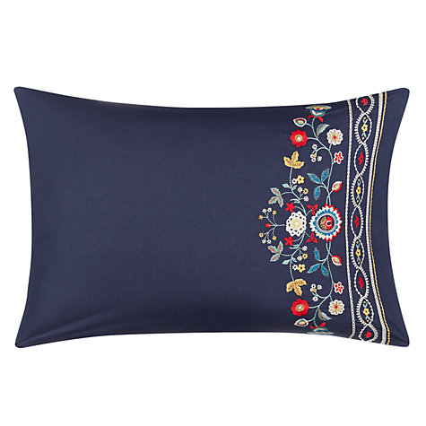 Buy John Lewis Folk Embroidered Cotton Duvet Cover and Pillowcase Set Online at johnlewis.com