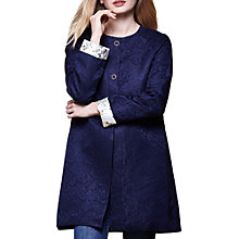 Buy Yumi Floral Lace Coat, Dark Navy Online at johnlewis.com