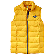 Buy Little Joule Boys' Junior Crofton Pack Away Gilet, Gold Online at johnlewis.com