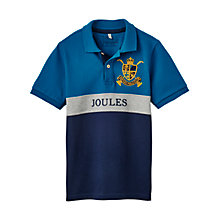 Buy Little Joule Boys' Junior Harry Polo Shirt, Bluebird Online at johnlewis.com
