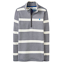 Buy Little Joule Boys' Junior Dale Sweatshirt, Navy Online at johnlewis.com
