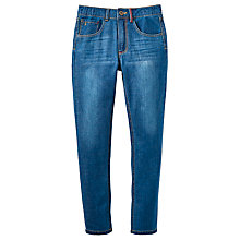 Buy Little Joule Boys' Junior Ted Jeans, Mid Wash Denim Online at johnlewis.com