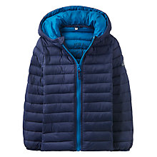 Buy Little Joule Boys' Junior Cairn Pack Away Puffer Jacket, Navy Online at johnlewis.com