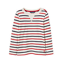 Buy Little Joule Boys' Young Breton Stripe Long Sleeve T-Shirt, Red/Navy Online at johnlewis.com