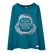 Buy Little Joule Boys' Finlay Barrier Teeth T-Shirt, Blue Online at johnlewis.com