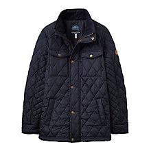 Buy Little Joule Boys' Junior Stafford Quilted Jacket, Navy Online at johnlewis.com