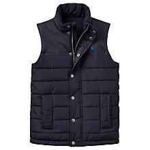 Buy Little Joule Boys' Junior Match Day Gilet, Navy Online at johnlewis.com