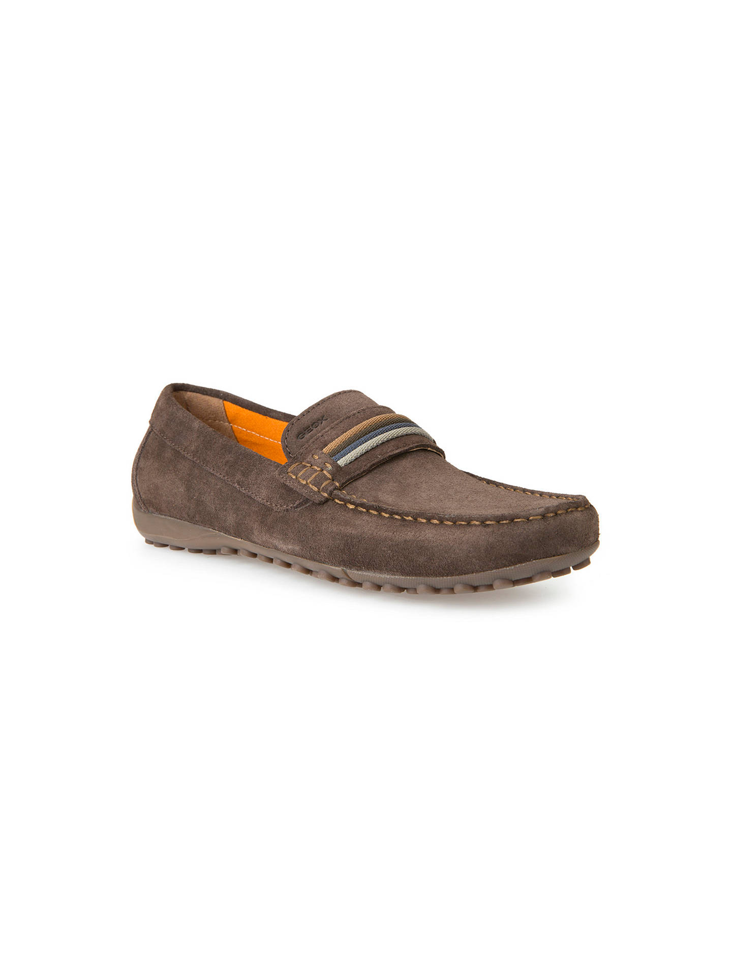 e5af99994effa Buy Geox Snake Moccasin Shoes, Chocolate, 7 Online at johnlewis.com ...