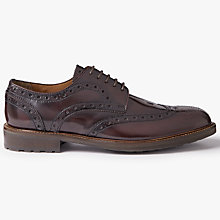 Buy John Lewis Comando Sole Brogues, Burgundy Online at johnlewis.com