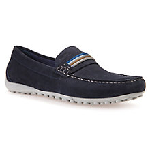 Buy Geox Snake Trainers, Navy Online at johnlewis.com