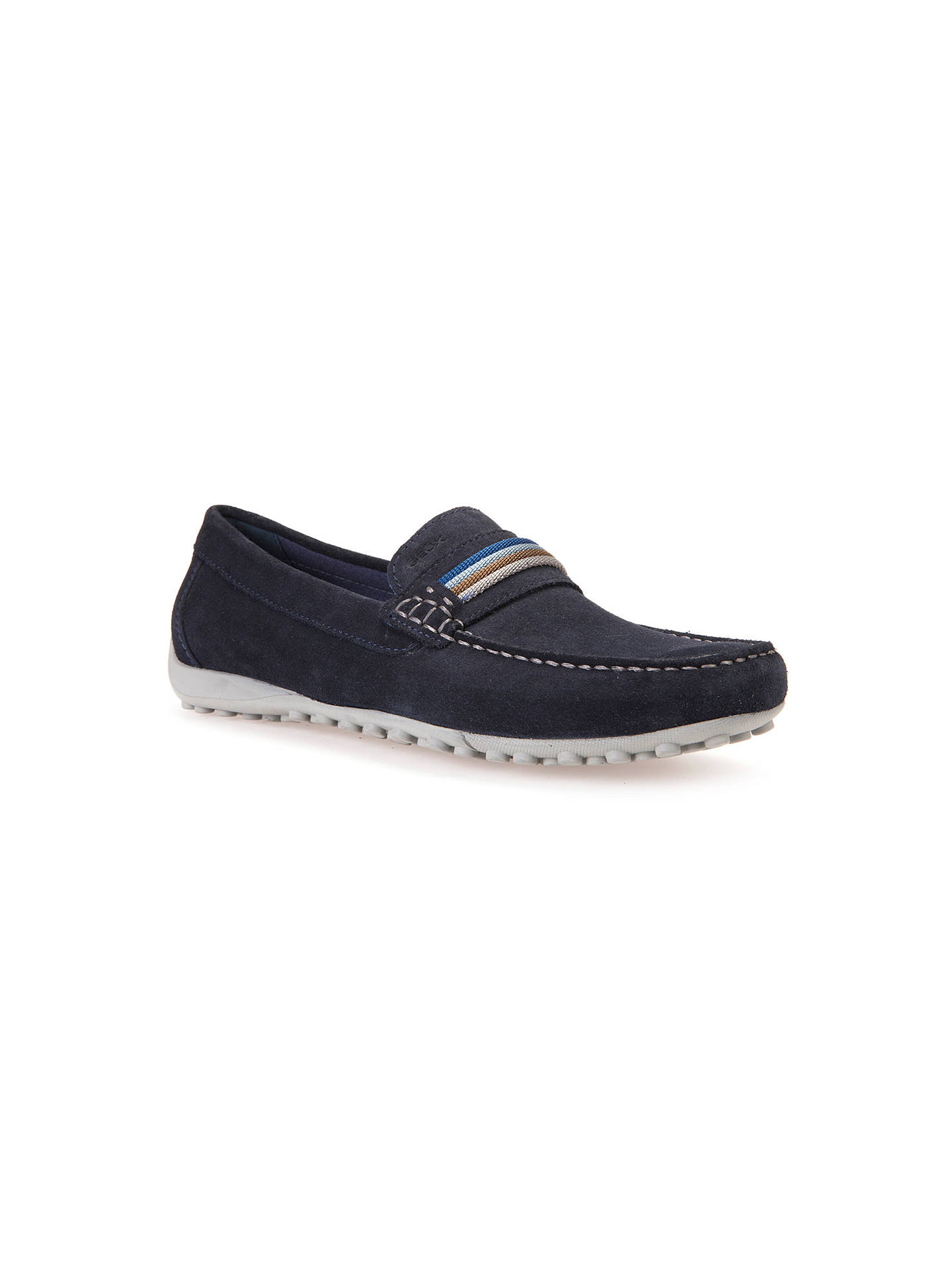 0cb5408a84a Buy Geox Snake Trainers, Navy, 7 Online at johnlewis.com ...