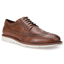 Buy Geox Uvet Brogue Shoes, Cognac Online at johnlewis.com