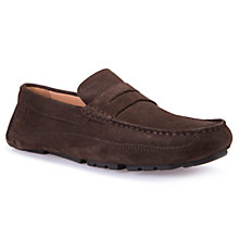 Buy Geox Melbourne Driving Moccasin Loafers, Chocolate Online at johnlewis.com