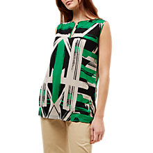 Buy Jaeger Graphic Brushstroke Print Top, Multi Online at johnlewis.com