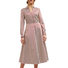 Buy Jaeger Bold Striped Shirt Dress, Red/Neutral Online at johnlewis.com