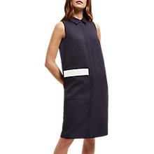 Buy Jaeger Top-Stitch Pocket Detail Dress, Navy/Ivory Online at johnlewis.com