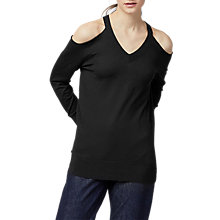 Buy Warehouse Cold Shoulder V-Neck Jumper Online at johnlewis.com
