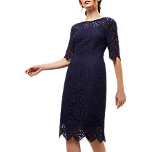 Buy Jaeger Lace Open-Back Dress, Navy Online at johnlewis.com