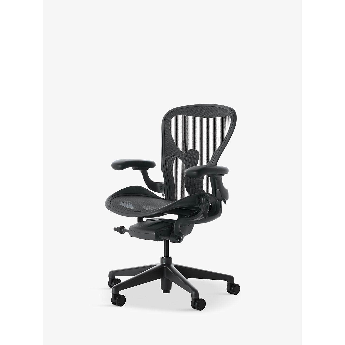 Herman Miller New Aeron Office Chair Graphite Online At Johnlewis
