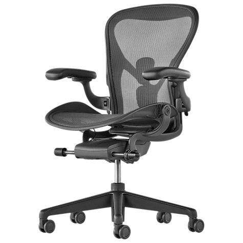 buy herman miller new aeron office chair, graphite | john lewis