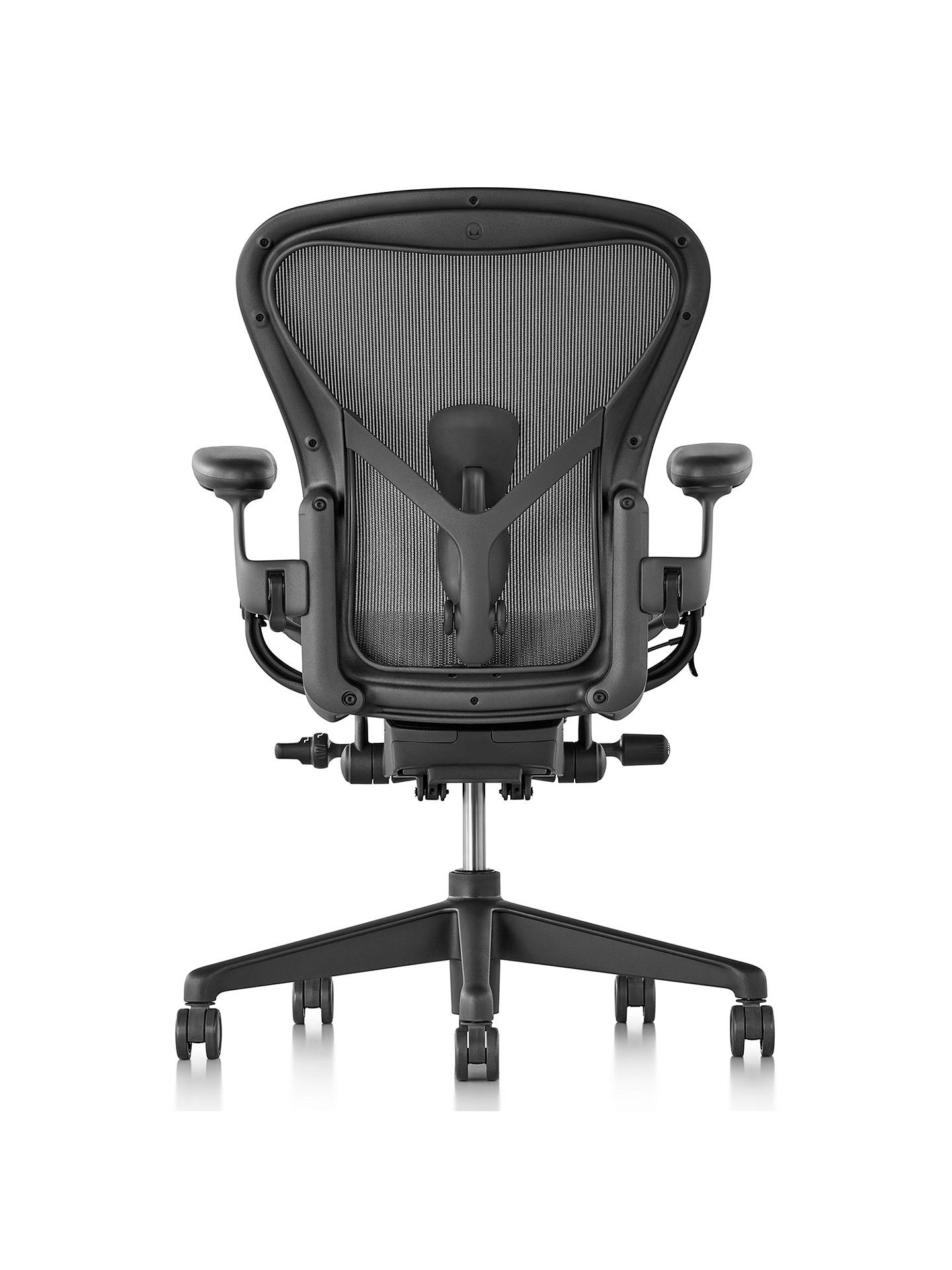 BuyHerman Miller New Aeron Office Chair, Size A, Graphite Online at johnlewis.com