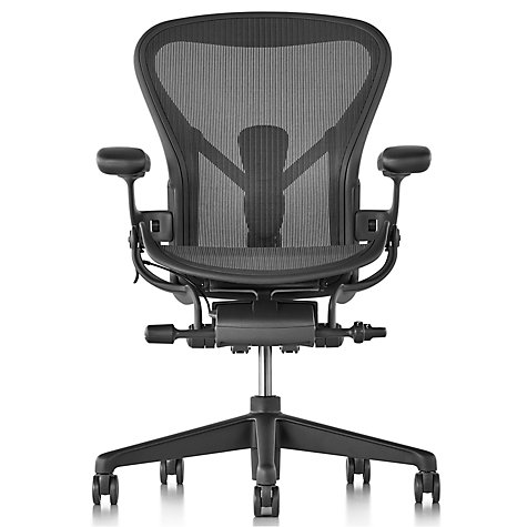 Buy Herman Miller New Aeron Office Chair, Graphite Online at johnlewis.com
