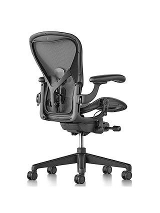 Buy Herman Miller Aeron Office Chair, Size A, Graphite Online at johnlewis.com