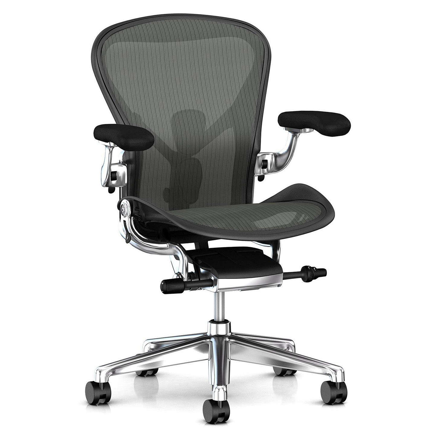 herman miller office chair herman miller new aeron office chair graphite polished 31448