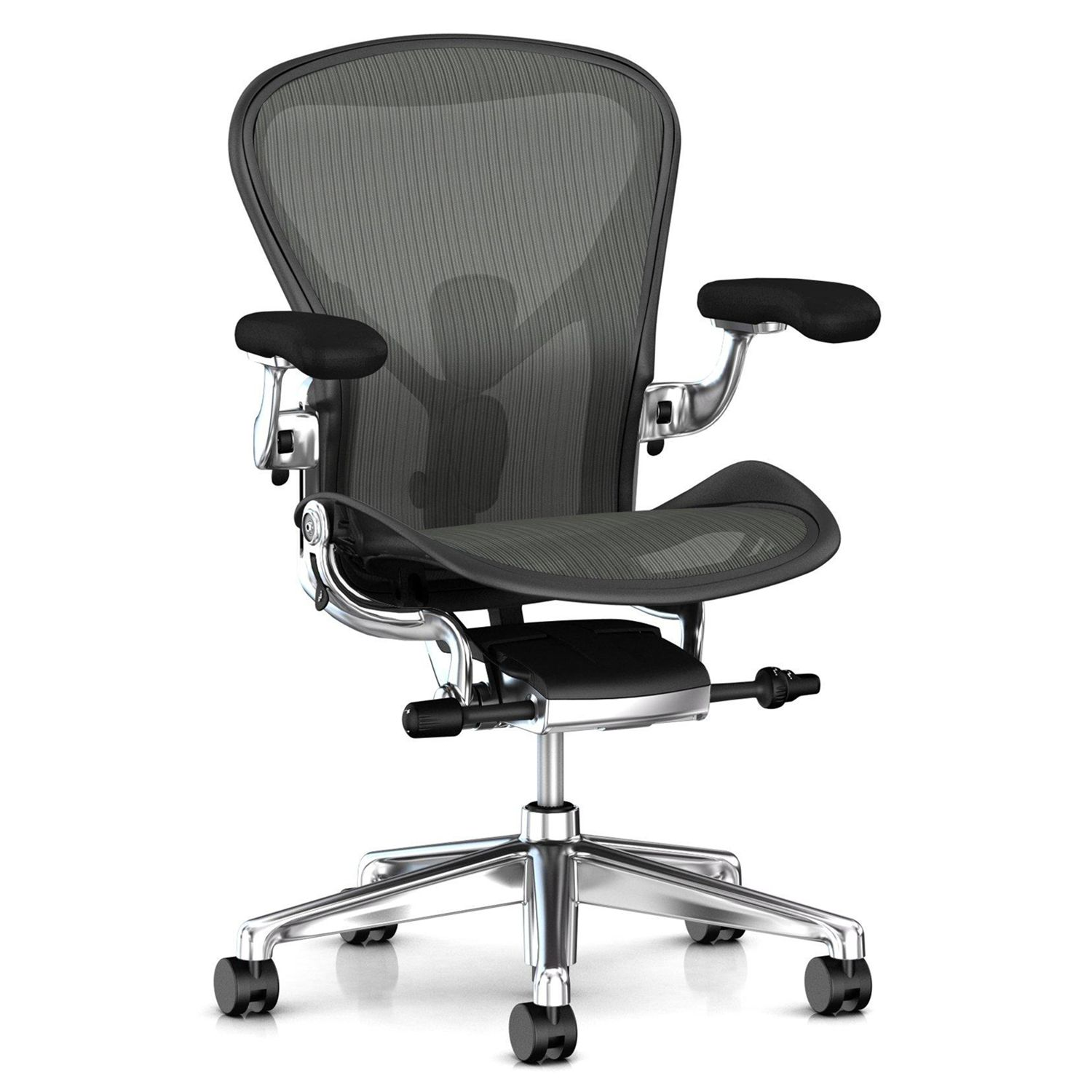 Herman Miller Herman Miller Aeron Office Chair, Graphite/Polished Aluminium