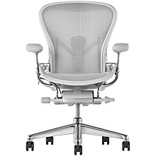 Buy Herman Miller New Aeron Office Chair, Mineral/Polished Aluminium Online at johnlewis.com