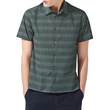 Buy Jigsaw Displaced Short Sleeve Poplin Shirt Online at johnlewis.com
