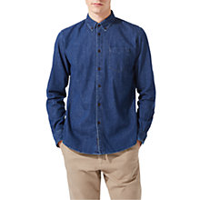 Buy Jigsaw Finlay Denim Shirt Mid Wash, Indigo Online at johnlewis.com