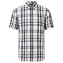 Buy Fred Perry Two-Colour Check Shirt, Service Blue Online at johnlewis.com