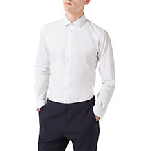 Buy Jigsaw Italian Poplin Slim Fit Shirt, White Online at johnlewis.com