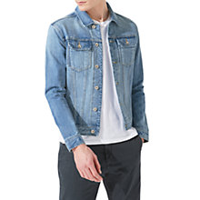 Buy Jigsaw Japanese Selvedge Denim Jacket, Stonewash Online at johnlewis.com