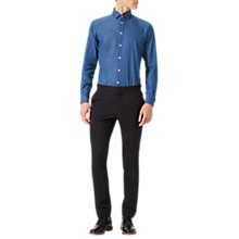 Buy Jigsaw Bloomsbury Italian Wash Denim Slim Shirt, Indigo Online at johnlewis.com