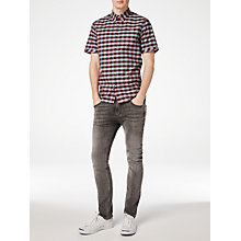 Buy Fred Perry Bold Gingham Short Sleeve Shirt, Rosewood Online at johnlewis.com