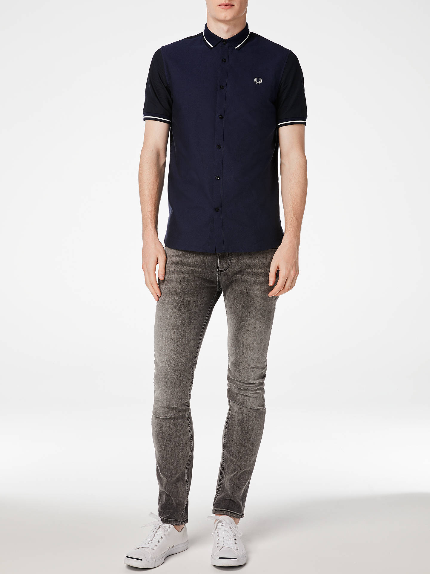 e0bb182fb Buy Fred Perry Knitted Collar Oxford Shirt