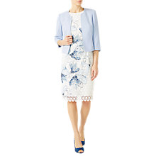 Buy Jacques Vert Crepe Edge To Edge Jacket, Pastel Blue Online at johnlewis.com