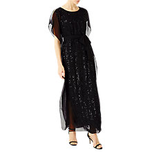 Buy Jacques Vert Sequin Column Maxi Dress, Black Online at johnlewis.com