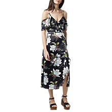 Buy Warehouse Magnolia Floral Print Wrap Dress, Multi Online at johnlewis.com