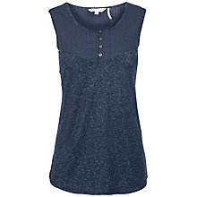 Buy White Stuff Mixed Woven Cotton Vest, Navy Online at johnlewis.com