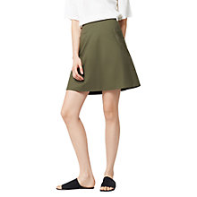 Buy Warehouse Compact Cotton Skirt Online at johnlewis.com