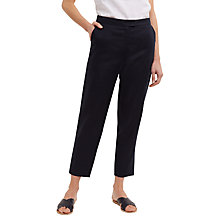 Buy Jaeger Linen 7/8 Slim Trouser, Navy Online at johnlewis.com